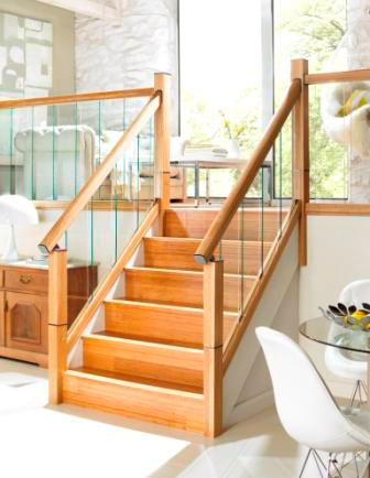 Richard Burbidge Oak Handrail with immix glass