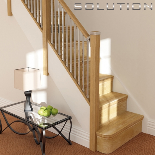 Solution staircase balustrade parts