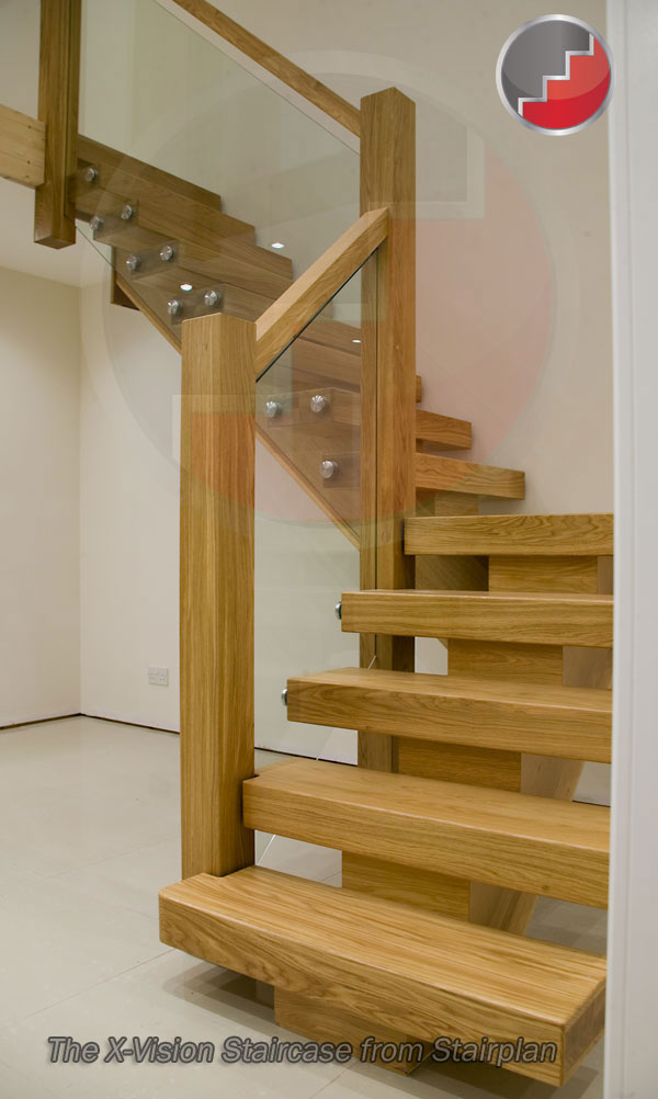 X Vision Staircase Oak Staircase Glass Staircase