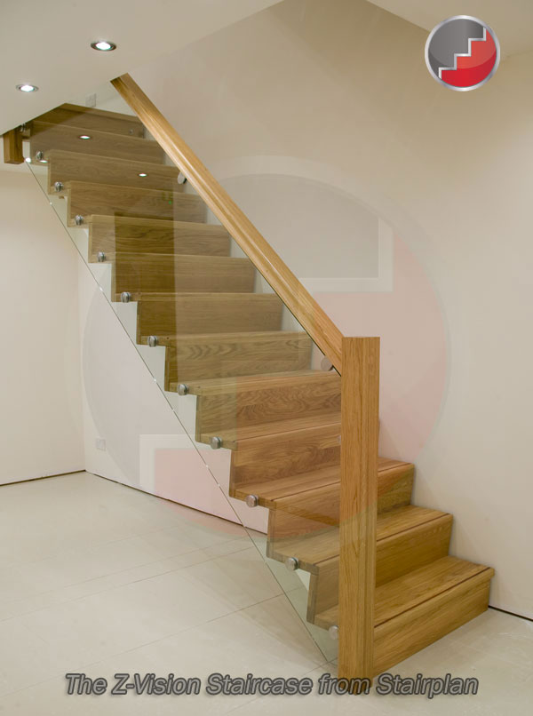 Z Vision Staircase Oak Staircase With Glass Balustrade